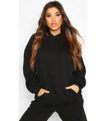 mix & match oversized hoodie, zwart
