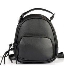 mochila bolsillo externo grande negro mailea