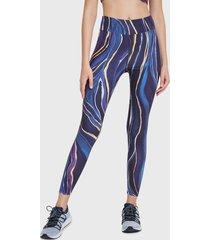 legging desigual mesh marble  5036 azul - calce ajustado