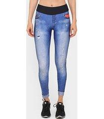 calça legging live athletic jeans tecno feminina