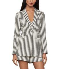 bcbgmaxazria striped one-button jacket