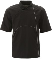 a-cold-wall nylon polo shirt with piping