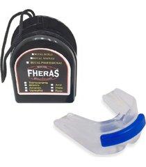 protetor bucal anti bruxismo duplo silicone c/ furo de respiração fheras .