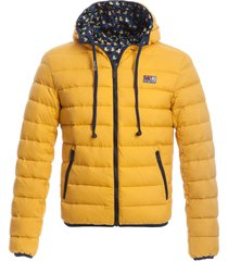 man double face yellow down jacket