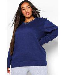 plus basic oversized sweater, navy