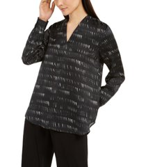 eileen fisher abstract-print v-neck top
