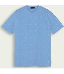 scotch & soda klassiek t-shirt met ronde hals van een katoenmix
