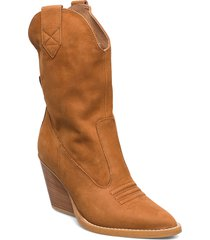 kim shoes boots ankle boots ankle boot - heel brun nude of scandinavia