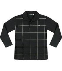 camiseta polo piquet ser garoto preto - preto - menino - algodã£o - dafiti