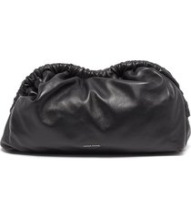 'cloud' leather clutch