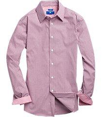 egara red & blue check sport shirt