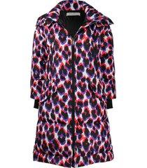 golden goose leopard print padded coat - black