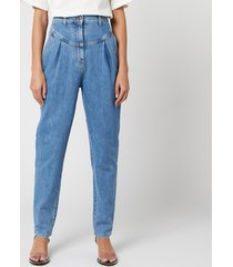 philosophy di lorenzo serafini women's denim trousers - blue - it 40/uk 8