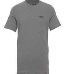 b.intl small logo tee t-shirts short-sleeved grå barbour