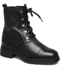 warm lamb fur lining c-4841-m shoes boots ankle boots ankle boots flat heel svart wonders