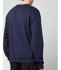 kenzo men's tiger crest classic sweatshirt - navy blue - xxl