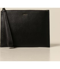 furla clutch furla wristlet in grained leather