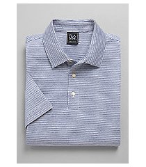 traveler collection traditional fit micro dot stripe short-sleeve men's polo shirt - big & tall