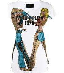 philipp plein cowboy t-shirt - white