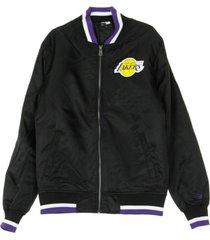 nba team apparel varsity loslak bomber jacket