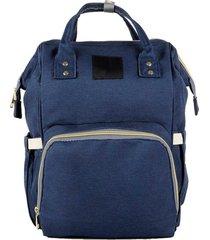 bolsa mochila maternidade bebê multifuncional térmica impermeável azul escuro