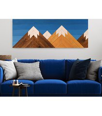 drewniany obraz mozaika - blue sky