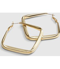 lane bryant women's madras madness large square metal hoop earrings onesz gold tone