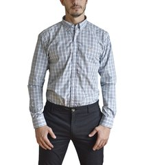 camisa celeste brooksfield brighton cuadros 7