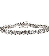 14k white gold & diamond prong-set tennis bracelet