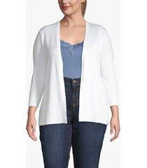 lane bryant women's open front cardigan 26/28 white