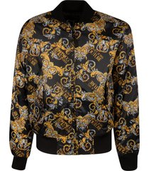 versace jeans couture printed logo baroque bomber
