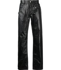 1017 alyx 9sm mid-rise straight-leg trousers - black