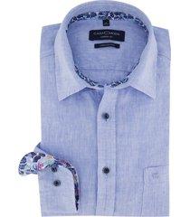 linnen overhemd casa moda blauw casual fit