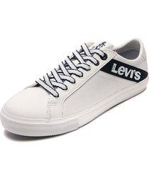 tenis blanco-azul levis woodward l