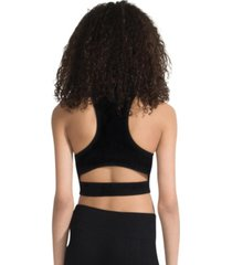 capezio seamless rib crop top