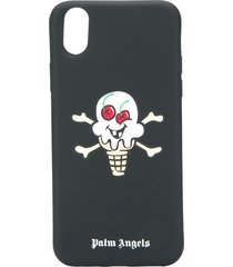 palm angels skull ice cream iphone x case - black