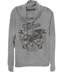 fifth sun dc batman bat cave garage logo cowl neck women's pullover fleece