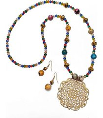 collar mandala y agatha multicolor