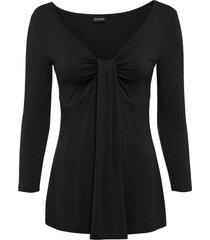 maglia drappeggiata (nero) - bodyflirt