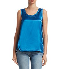 cover-stitch sleeveless top