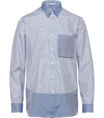 boxy shirt longsleeve overhemd business blauw holzweiler