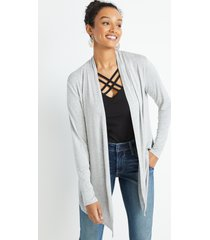 maurices womens gray heather long sleeve open front cardigan