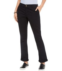 style & co cotton bootcut chino pants, created for macy's