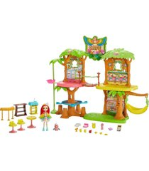 conjunto enchantimals café na selva peeki e sheeny - mattel