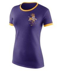 nike women's l.s.u. vault ringer t-shirt