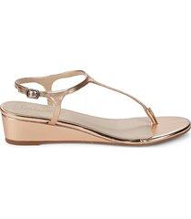 splendid women's morrie leather thong sandals - silver metallic - size 7