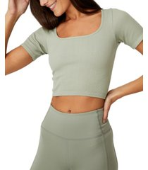 women's square neck seamless t-shirt