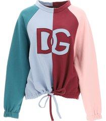 dolce & gabbana round neck sweatshirt with maxi logo