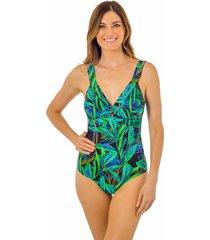 traje de baño drapeado secret verde ac mare