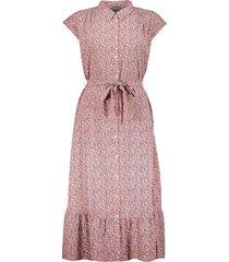 geisha 17082-21 421 long jurk aop old pink/blue/ecru